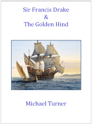The cover image from 'Sir Francis Drake and The Golden Hind'
